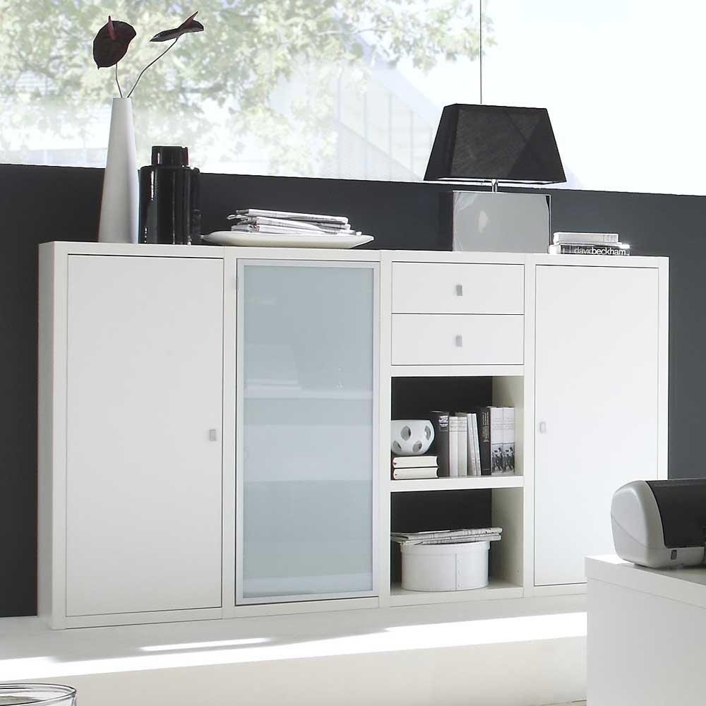 Sideboard in Weiß lackiert