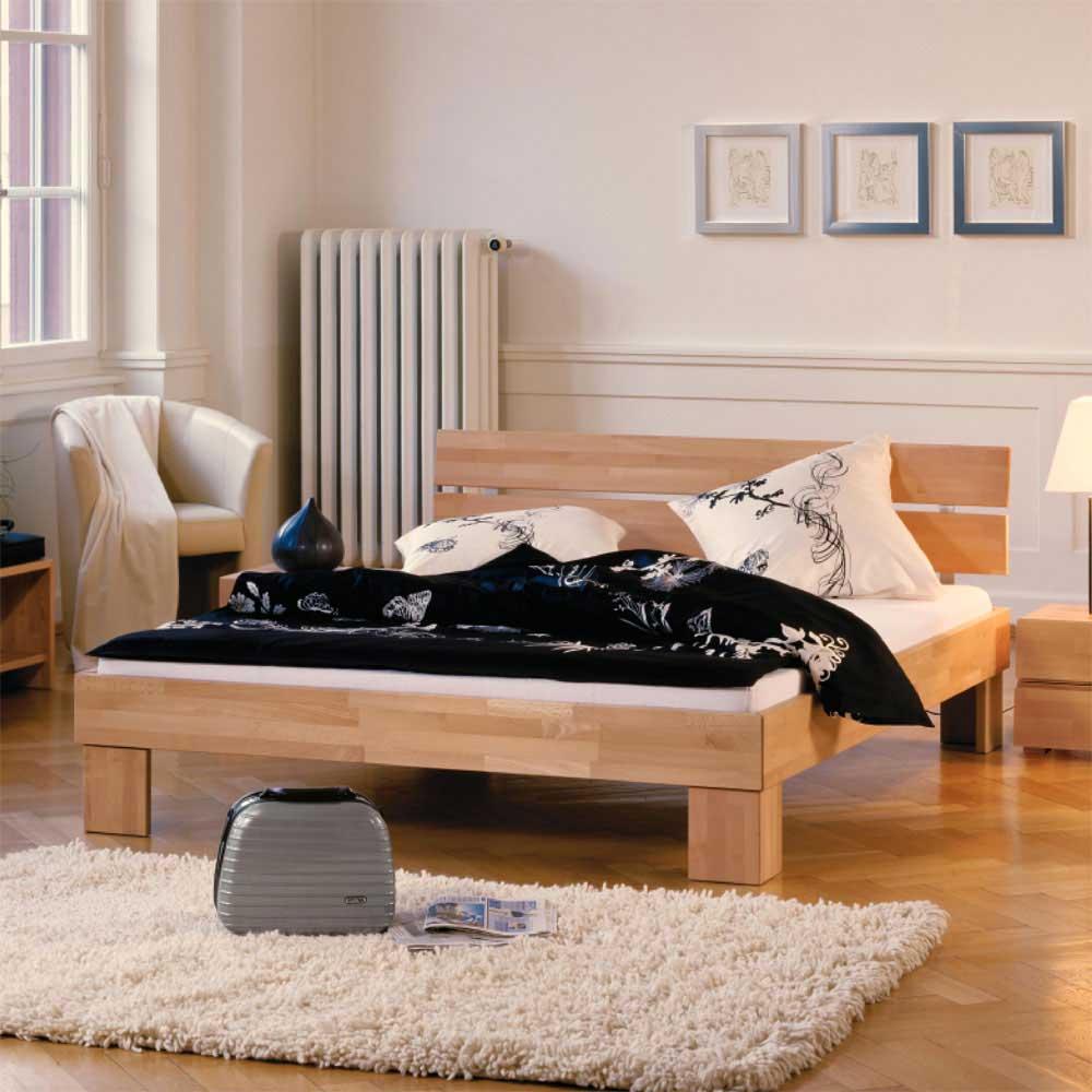 Futonbett aus massiver Buche   Schlafzimmer > Betten > Futonbetten   Buche - Massivholz - Holz - Massiv - Lackiert   TopDesign