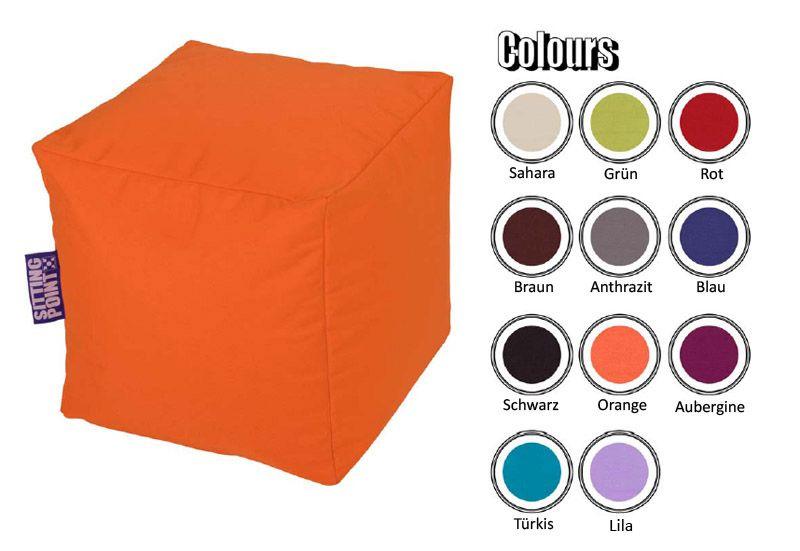 Sitzwürfel in Orange | Wohnzimmer > Hocker & Poufs > Sitzwürfel | Lila | Textil | Young Furn