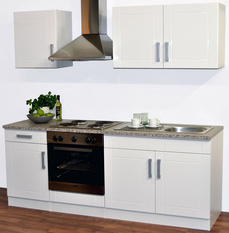 Küchenblock in Weiß (fünfteilig)