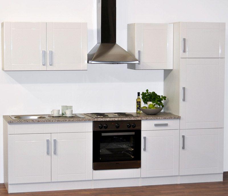 Kücheneinrichtung in Weiß (6-teilig)