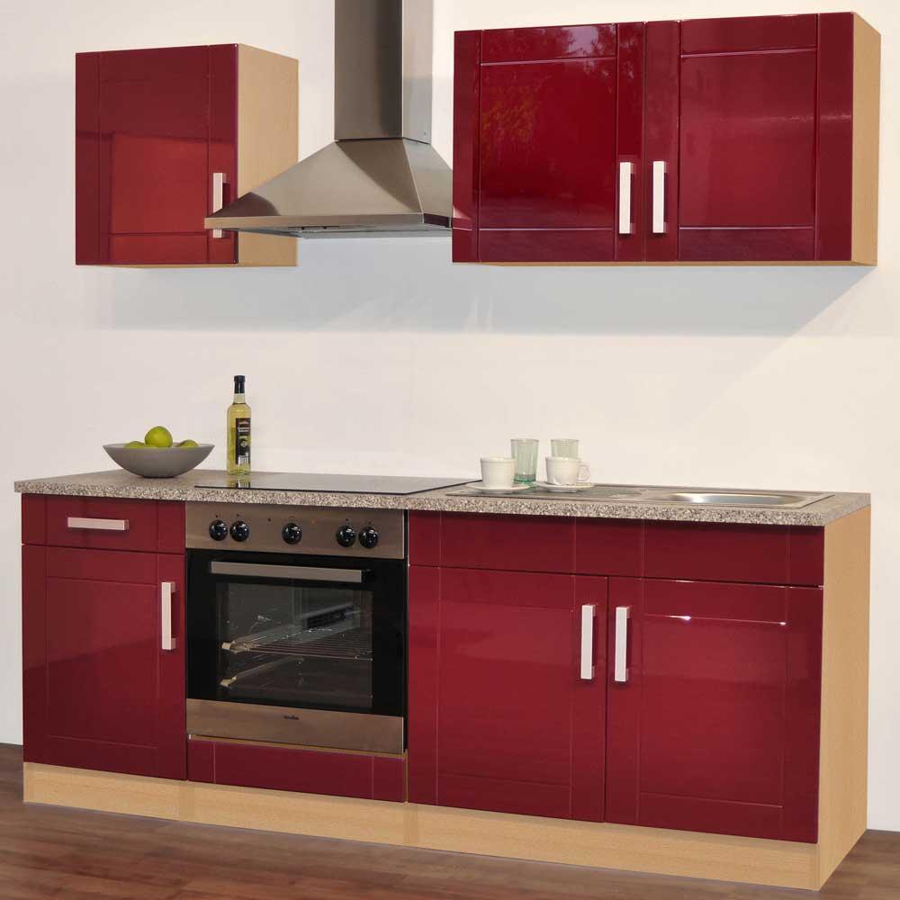 Kücheneinrichtung in Rot (5-teilig)
