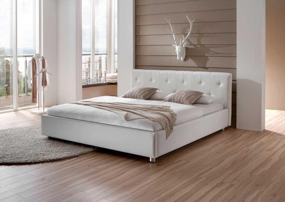 Polsterbett ohne Matratze gesteppt