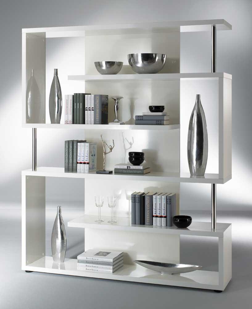 Regalwand modern Weiß