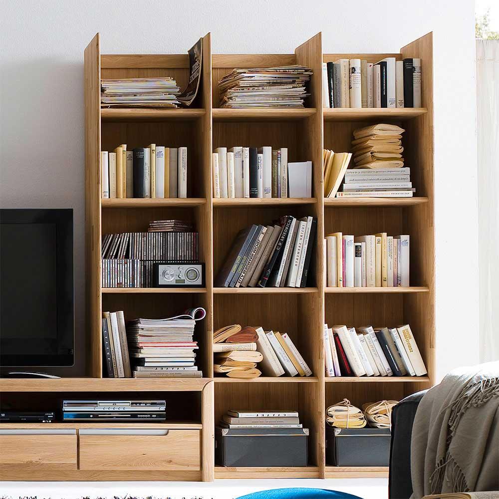 Standregal aus Wildeiche Massivholz Bücher | Wohnzimmer > Regale > Einzelregale | Holz | Massivholz | Nature Dream