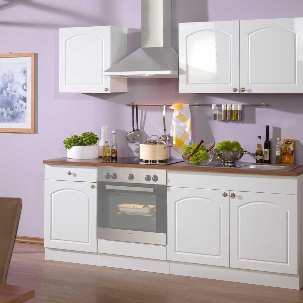Küchenzeile im Landhausstil ohne Geräte (5-teilig)