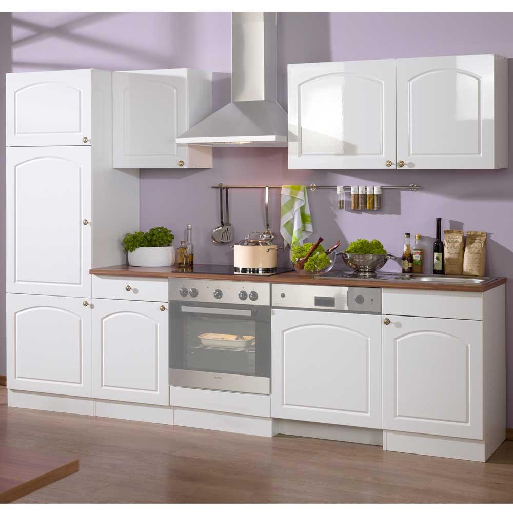 Küchen Kombination im Landhausstil Weiß (6-teilig)