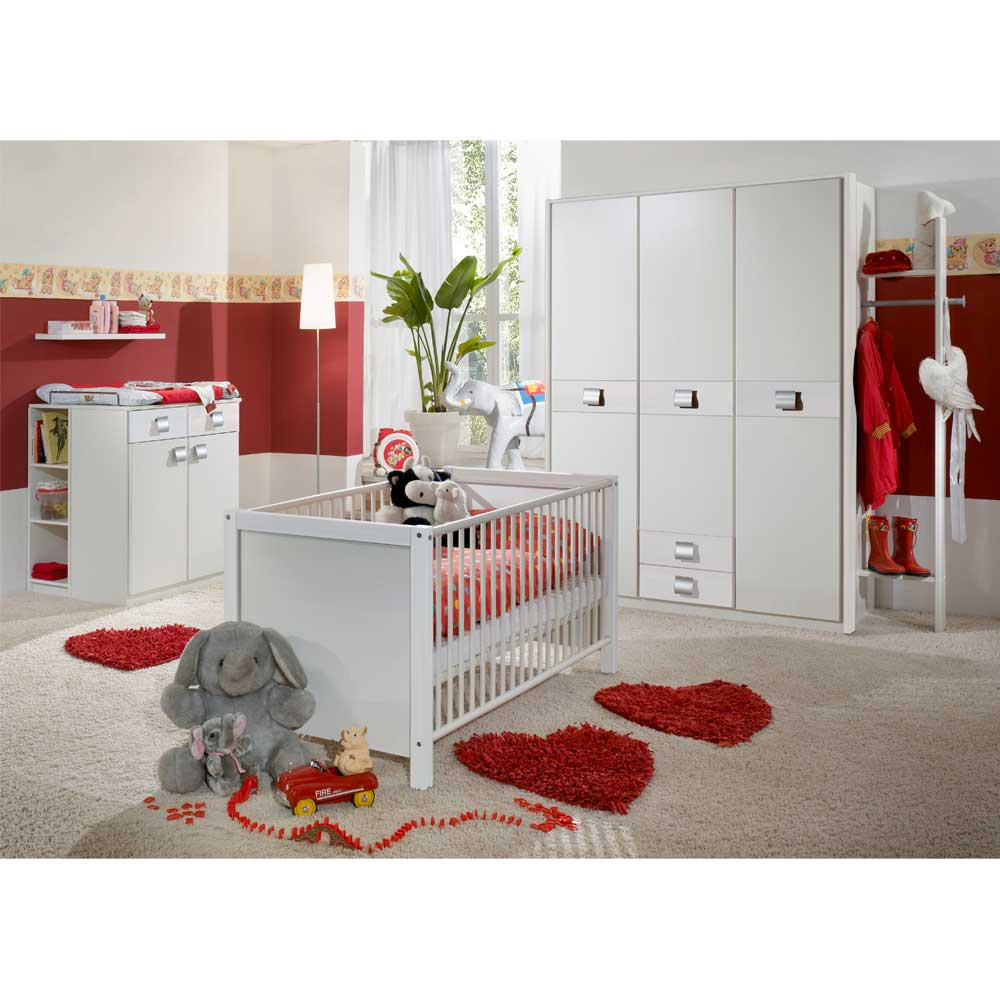 babyzimmer komplettset in wei g nstig 3 teilig. Black Bedroom Furniture Sets. Home Design Ideas