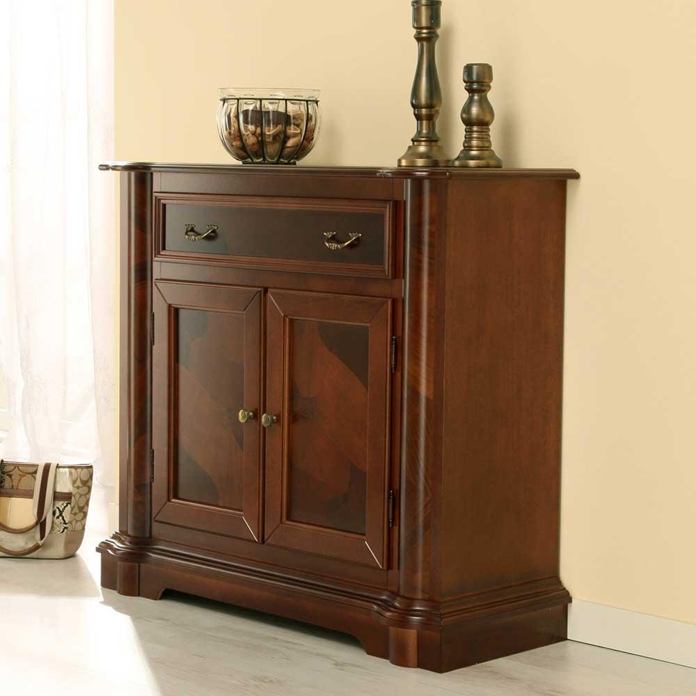 Flur Kommode in antik gebeizt   Flur & Diele > Regale für Flur und Diele > Standregale für Flur und Diele   Braun   Holzwerkstoff   Elegance InLiving