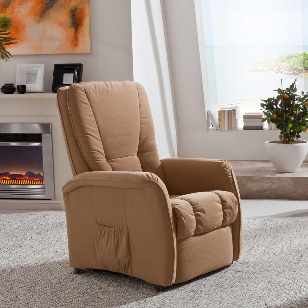 TV-Sessel mit verstellbarer Rückenlehne Aufstehhilfe