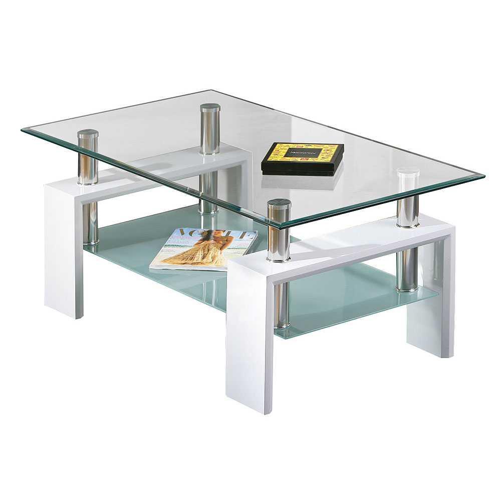 Couchtisch mit Glasplatte modern