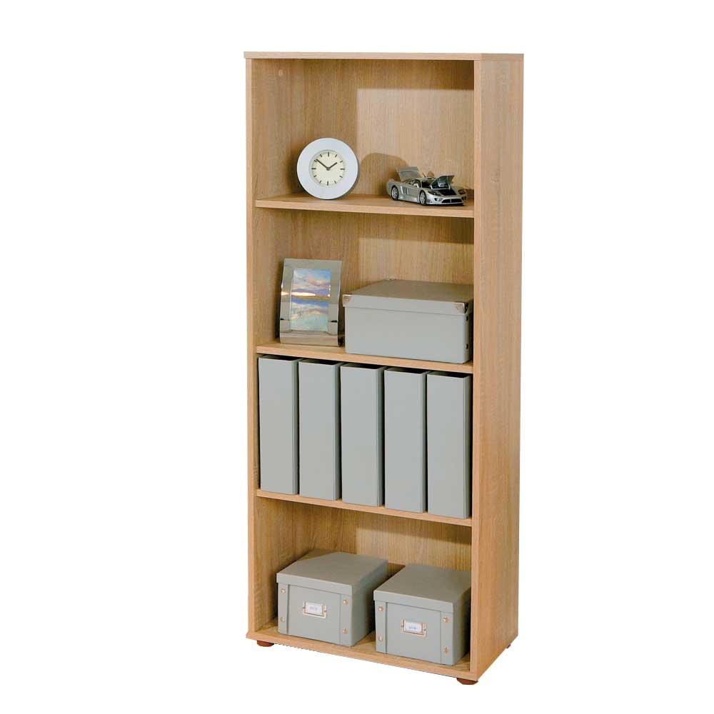 Aktenregal in Eichefarben Klassisch | Büro > Büroregale > Standregale | Sonoma - Eiche - Spanplatte | TopDesign