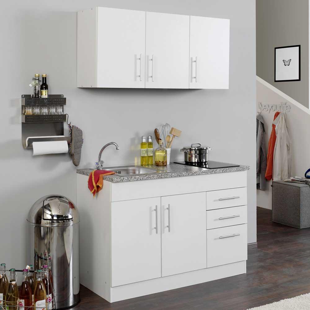 Miniküche in Weiß Kochplatten (3-teilig)   Küche und Esszimmer > Küchen > Miniküchen   Star Möbel