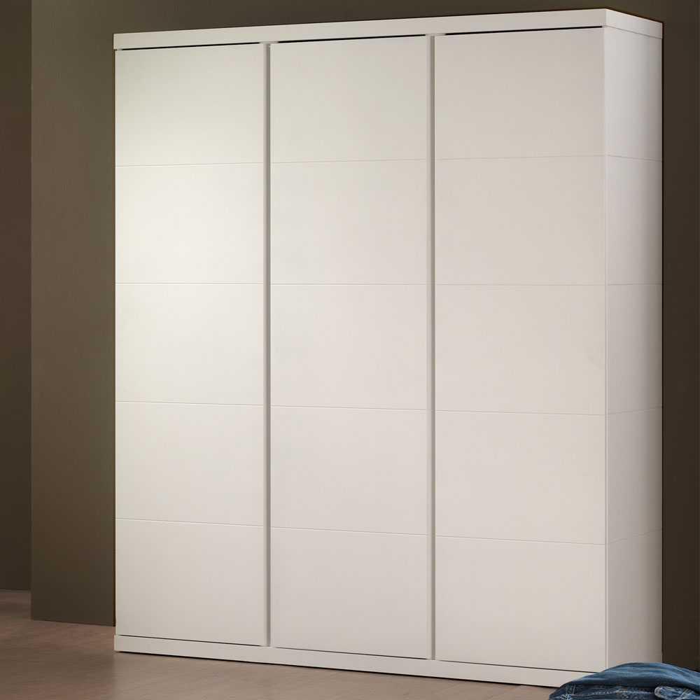 Schlafzimmer-Drehtürenschrank in Weiß Dreitürig
