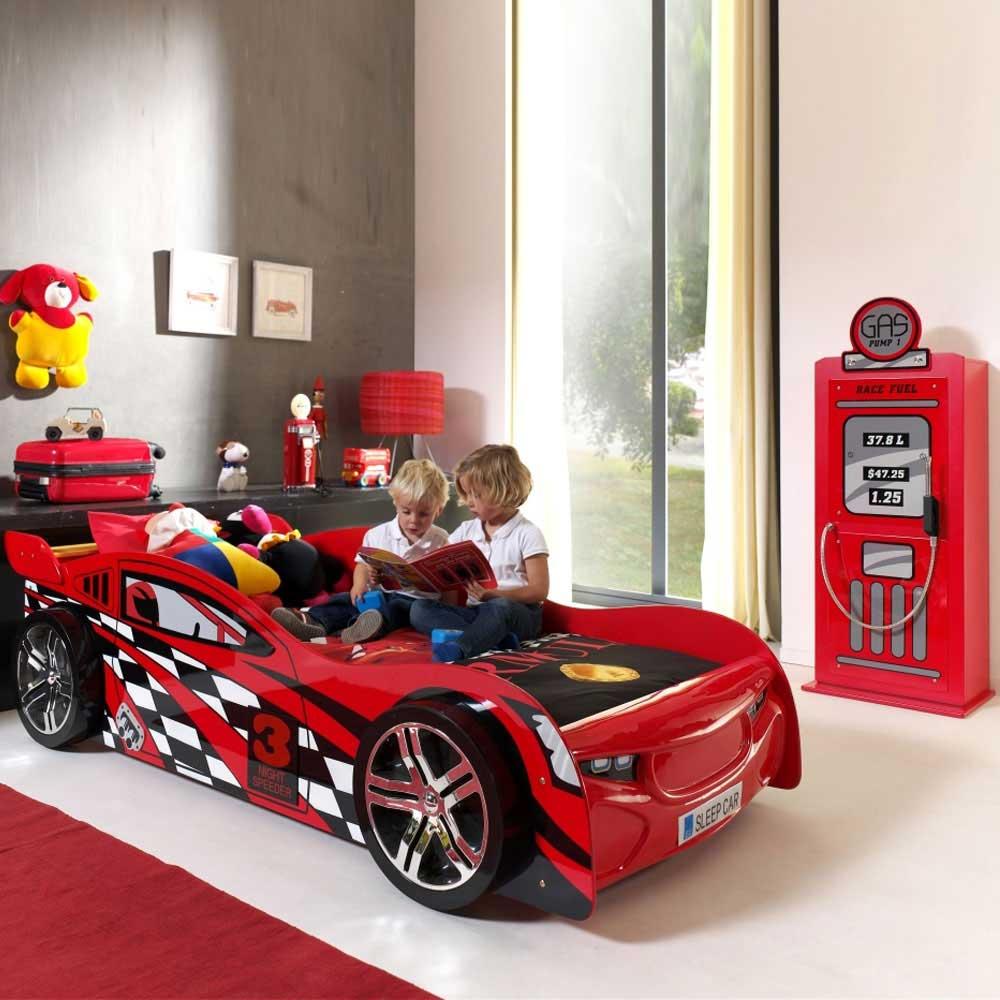 Rennwagen-Bett in Rot Autobett (2-teilig)