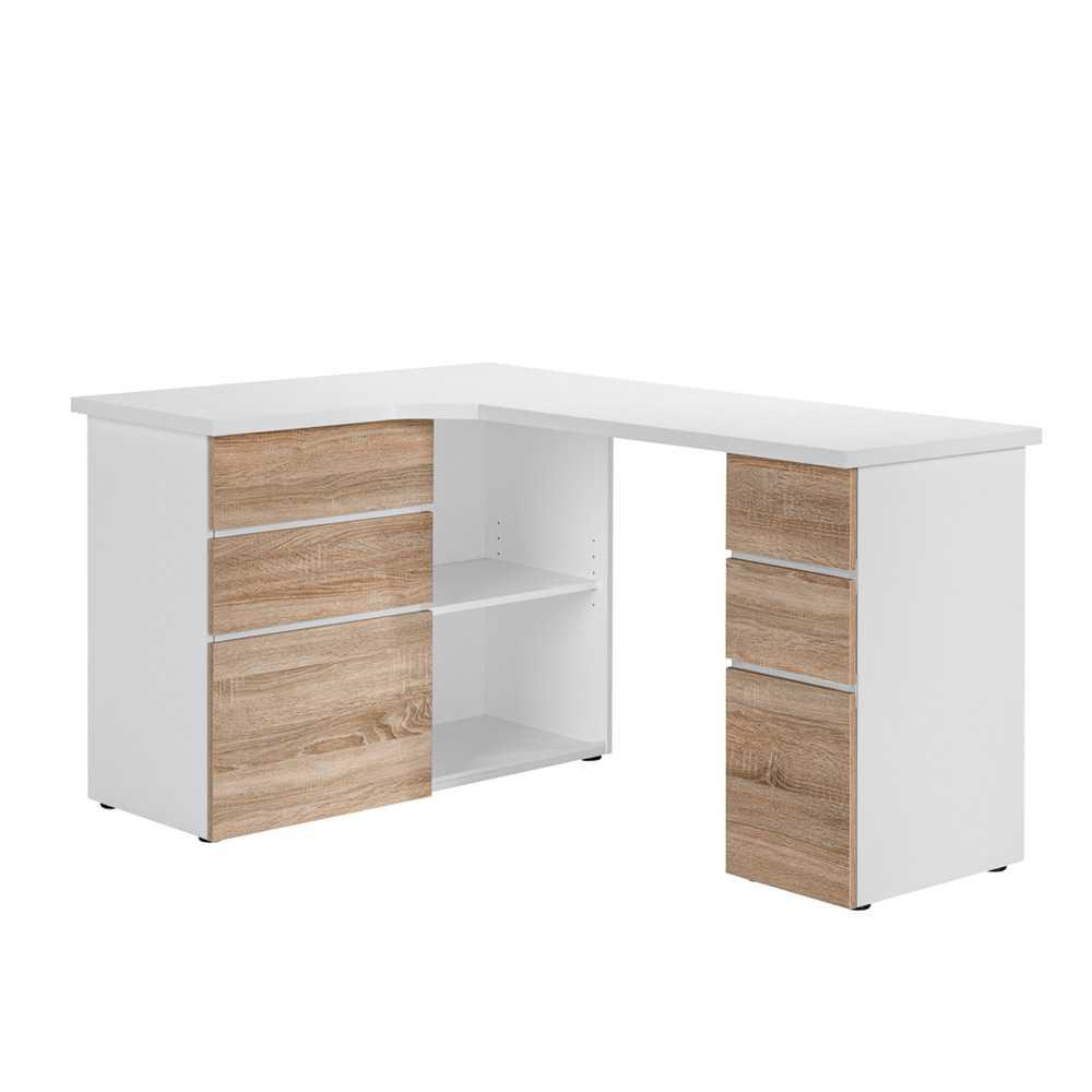 Computertisch als Ecklösung Eiche Sonoma | Büro > Bürotische > Computertische | Müllermöbel