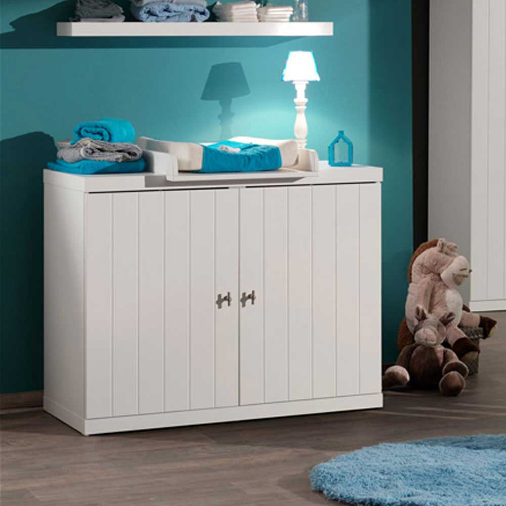 Wickelkommode in Weiß Weiß   Kinderzimmer > Babymöbel > Wickelkommoden   Weiß   Holzwerkstoff   4Home