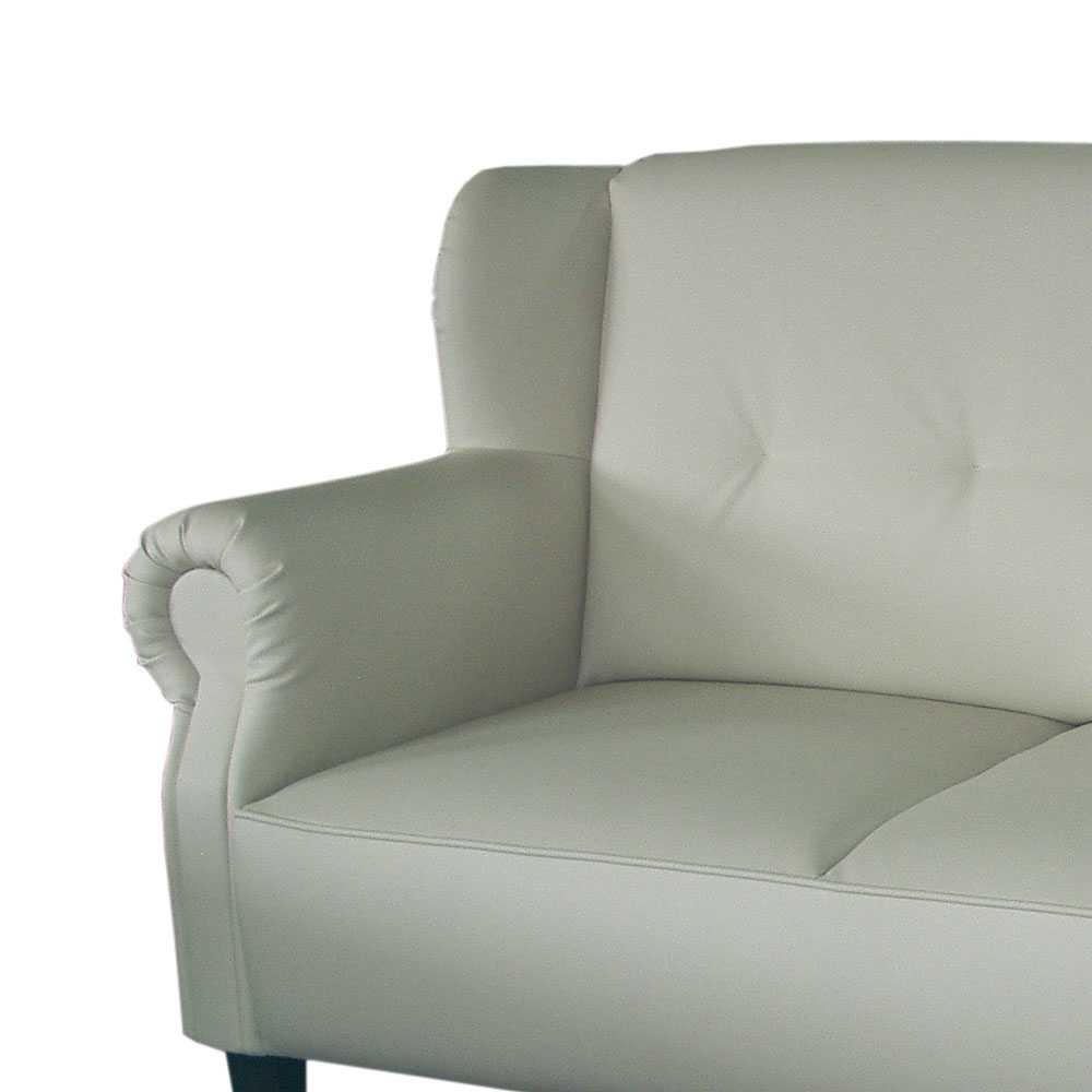 2 Sitzer Sofa in Creme Federkern