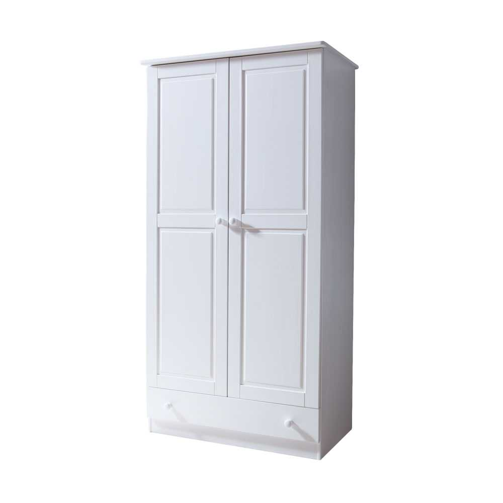 Kleiderschrank 2 türig Weiß