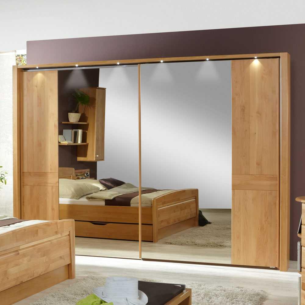 Spiegelkleiderschrank mit Beleuchtung Spiegelfront   Bad > Spiegel fürs Bad > Badspiegel   Holz   Holzwerkstoff   Franco Möbel