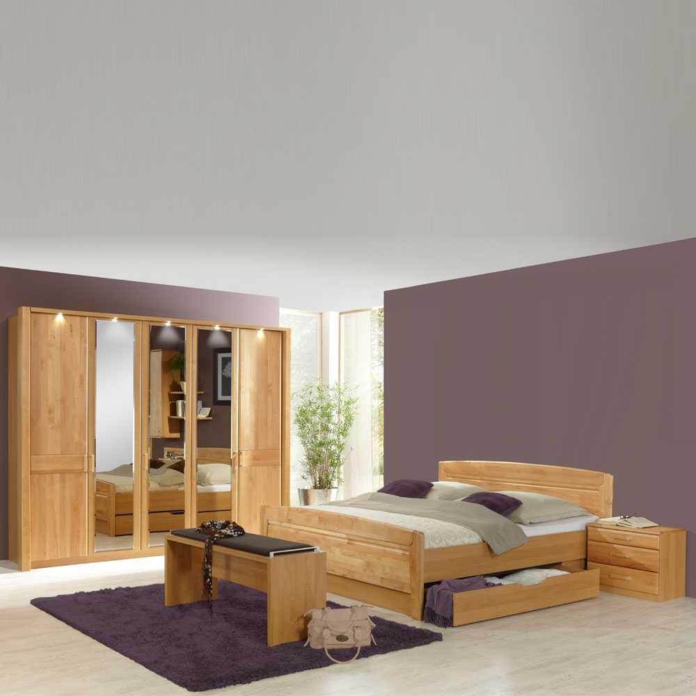 Schlafzimmermöbel Set aus Erle Kaufen (4-teilig)