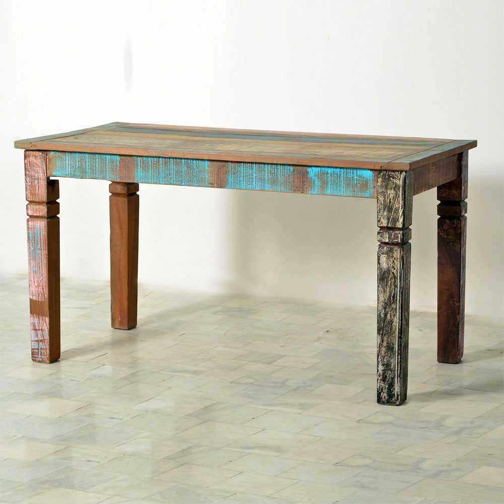 Esszimmertisch aus Massivholz Shabby Chic