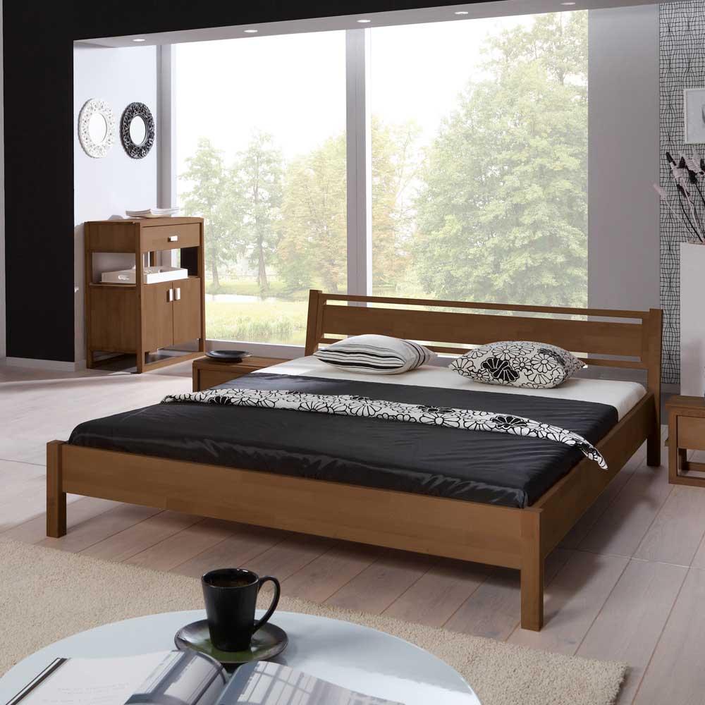 Jugendbett aus Buche Massivholz modern | Kinderzimmer > Jugendzimmer | Basilicana