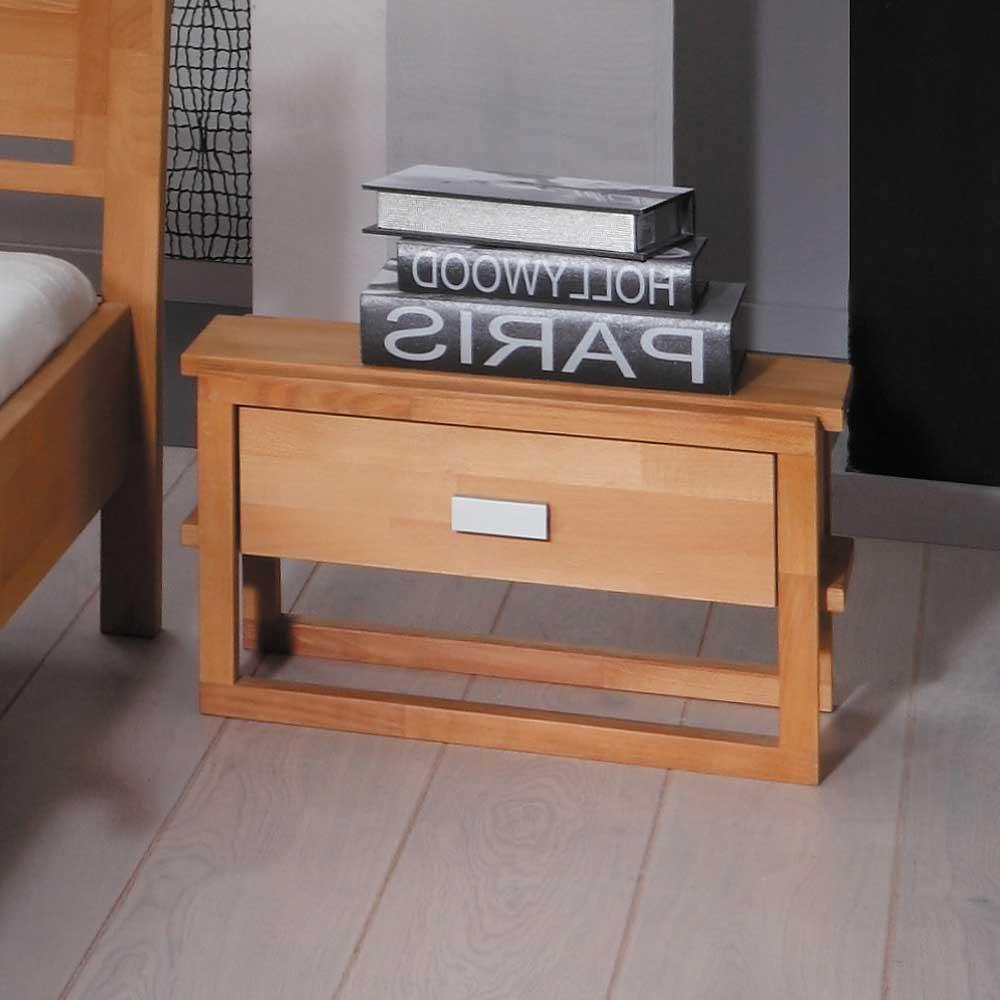 Nachtkonsole aus Buche Massivholz 50 cm breit