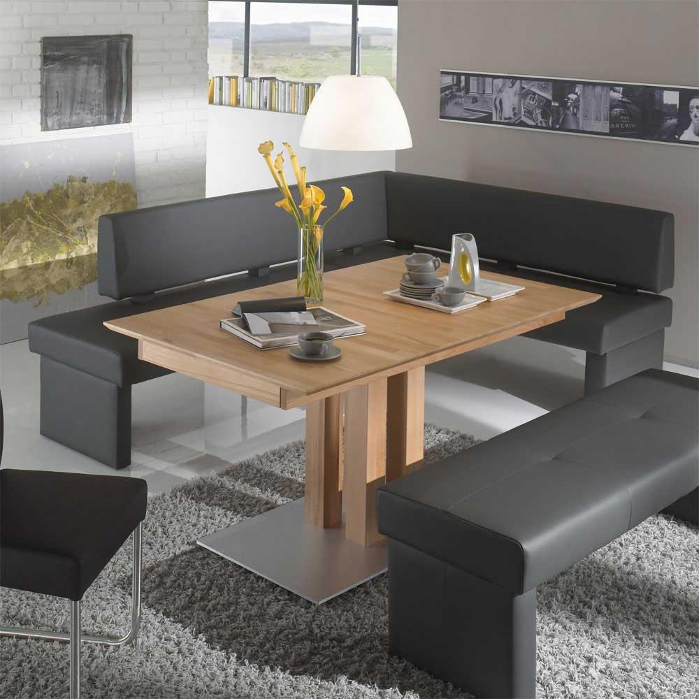Polstereckbank in Grau modern | Küche und Esszimmer > Sitzbänke > Eckbänke | Grau | Textil | Basilicana