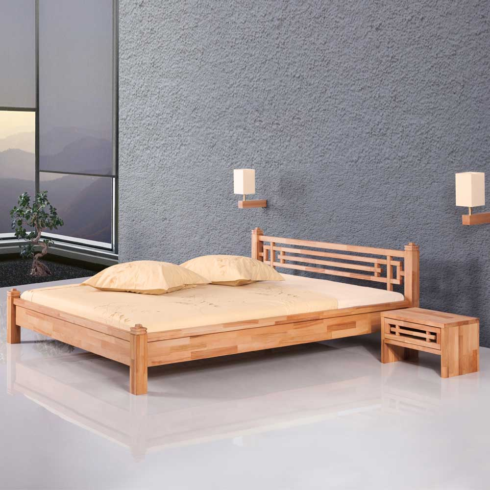 Futonbett aus Kernbuche Massivholz geölt | Schlafzimmer > Betten > Futonbetten | Holz | Massivholz | Basilicana