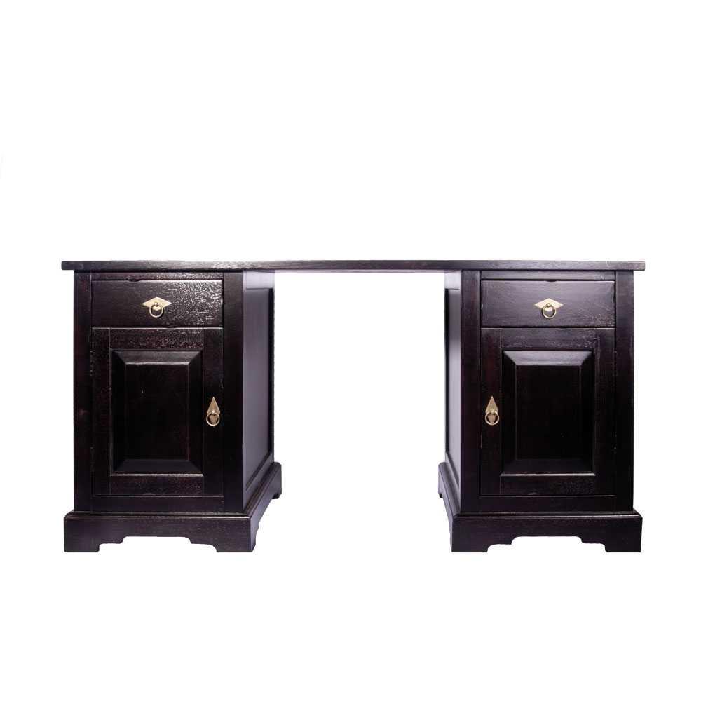 Computer-Schreibtisch aus Akazie Massivholz Kolonialstil   Büro > Bürotische > Computertische   Akazie - Massivholz - Massiv - Holz - Lackiert   Möbel Exclusive
