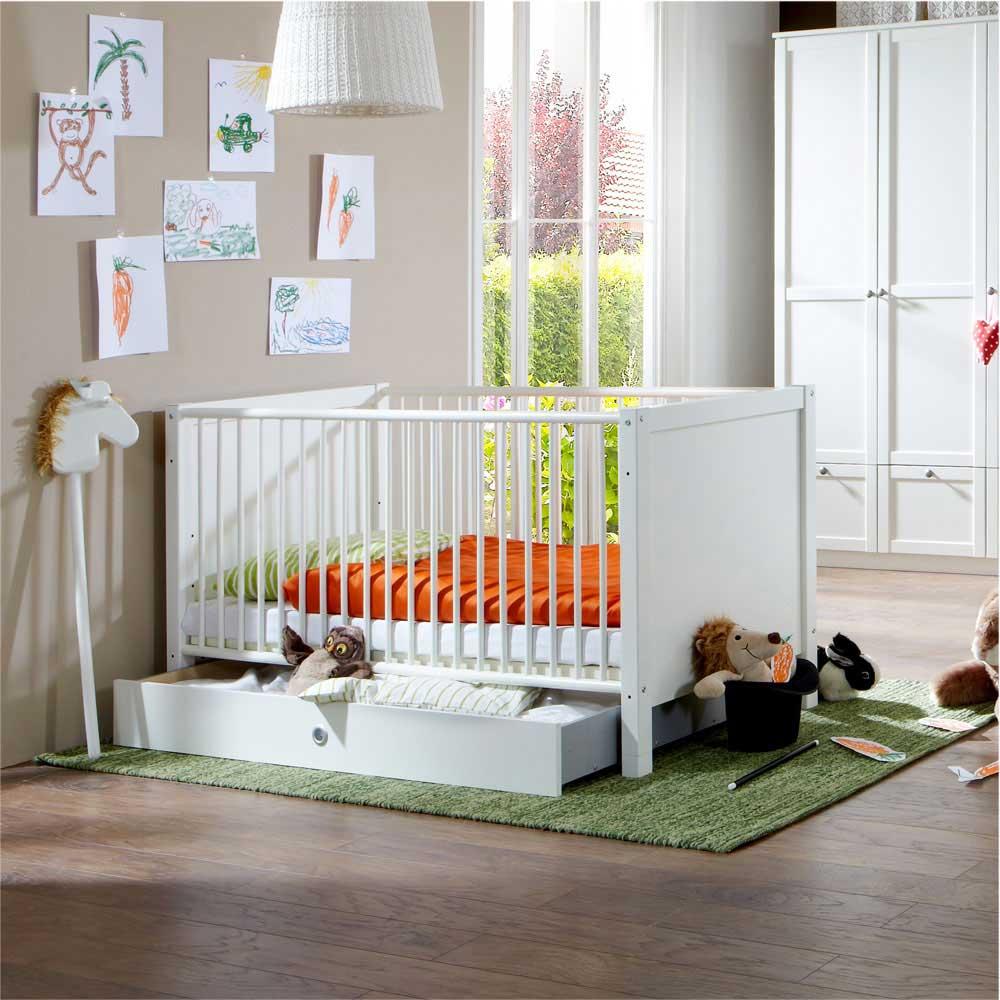 Vorschaubild von Babybett mit Schubkasten Schlupfsprossen