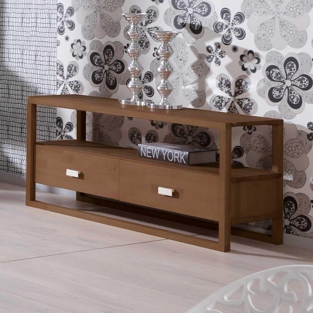TV-Lowboard in Nussbaumfarben Modern