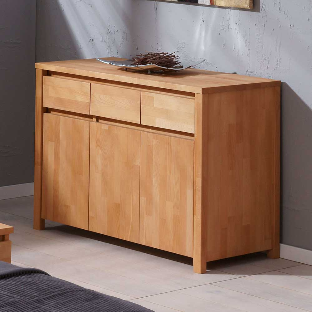 Wohnzimmer Sideboard aus Buche Massivholz modern