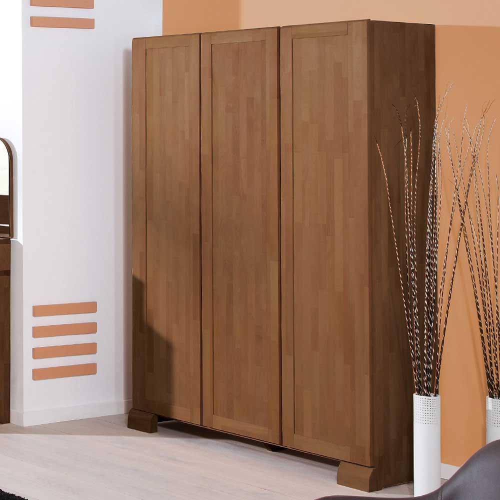 Schlafzimmerschrank in Nussbaum Buche Massivholz
