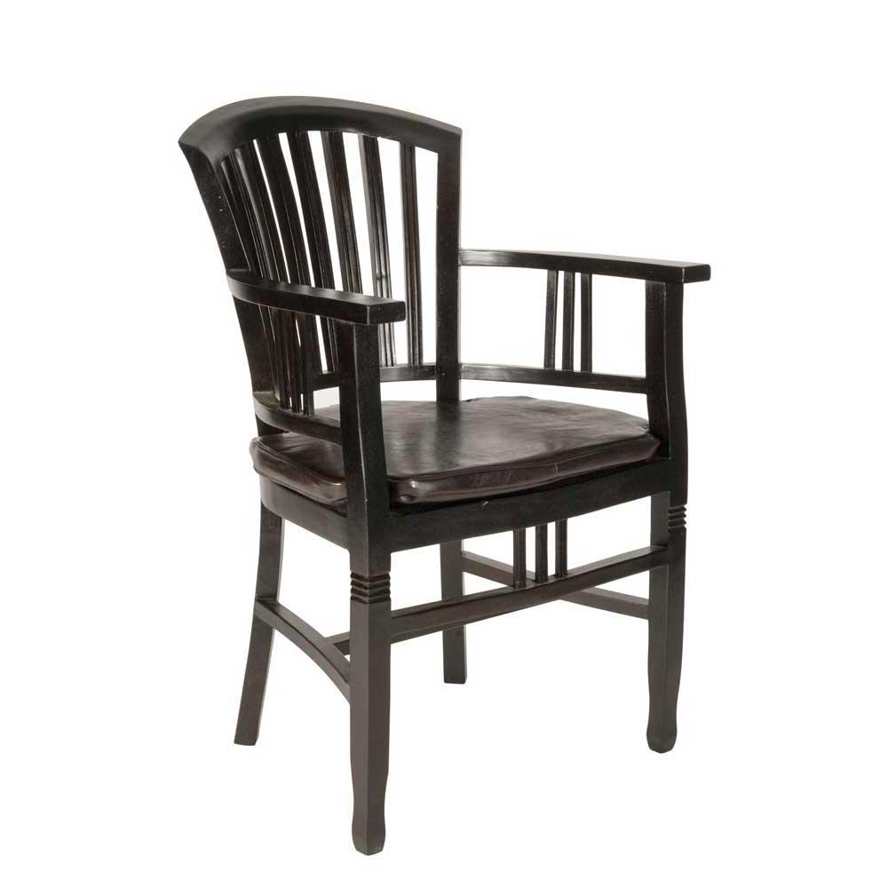Kolonial Stuhl mit Armlehnen Akazie Massivholz | Küche und Esszimmer > Stühle und Hocker > Holzstühle | Möbel Exclusive