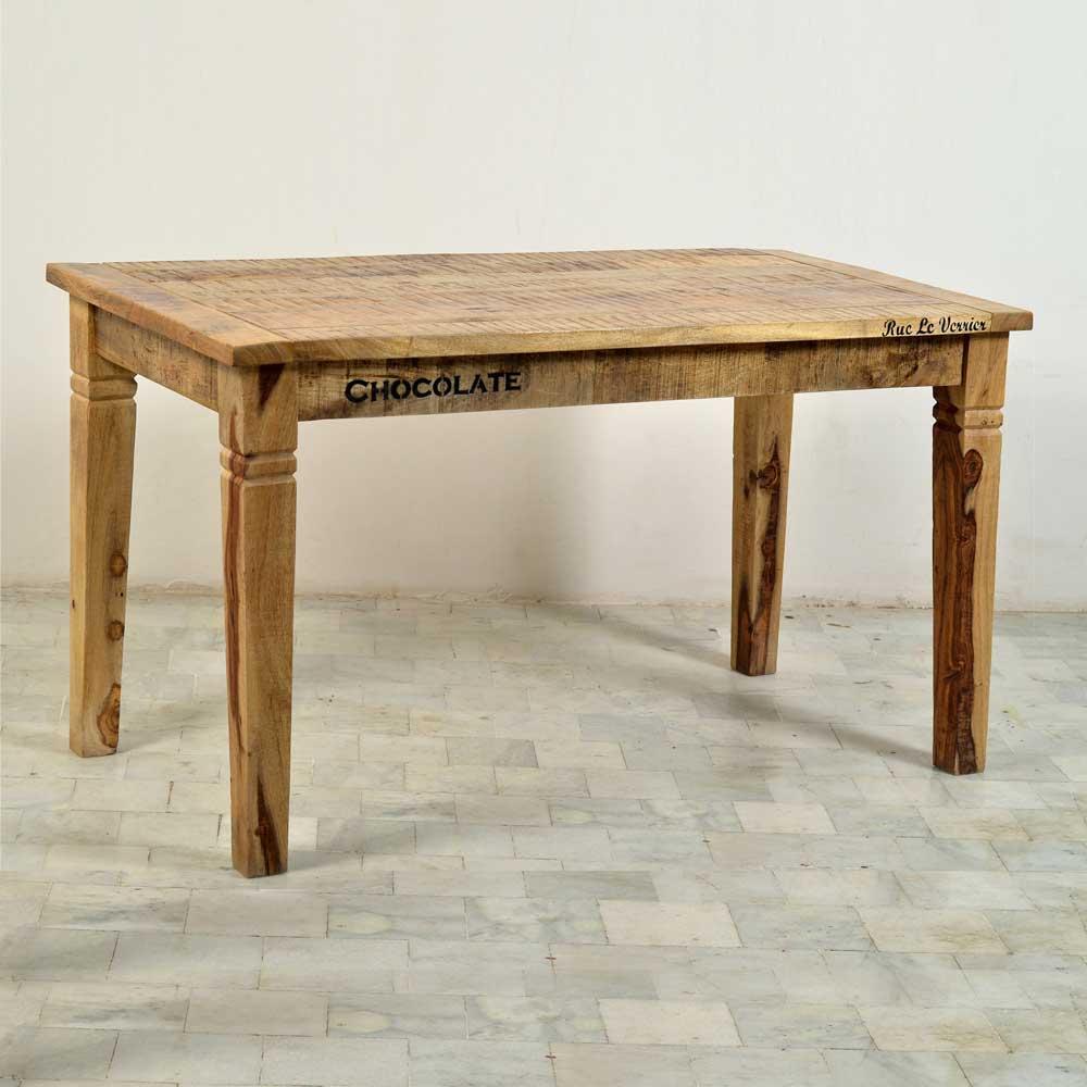 Esszimmertisch aus Mangobaum Massivholz Industry Style