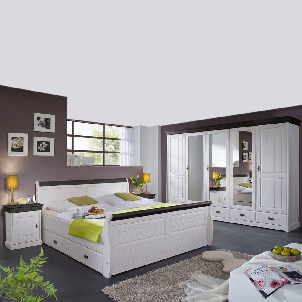 Schlafzimmermöbel und Weiß Braun (4-teilig)