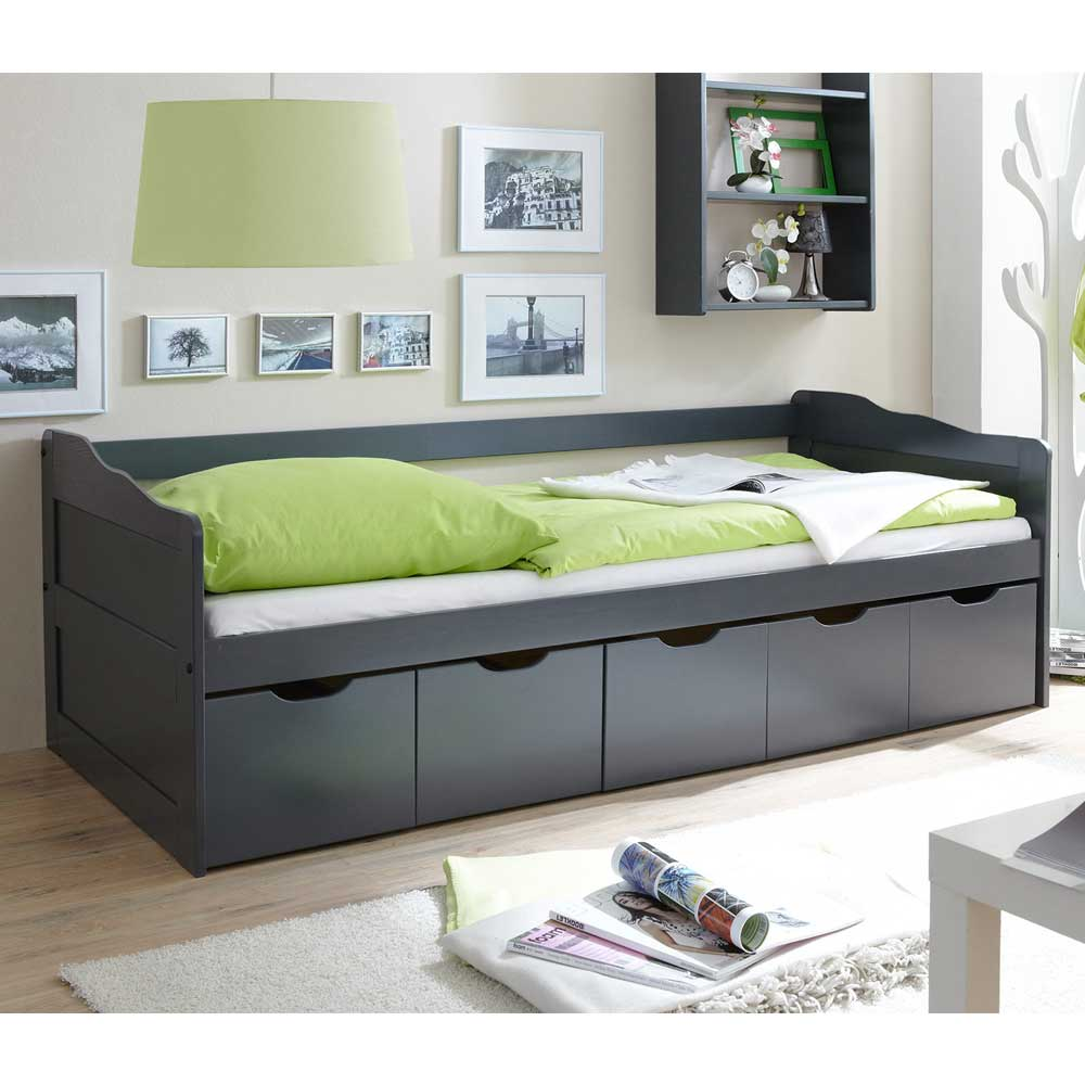 jugendbetten mit bettkasten g nstig kaufen. Black Bedroom Furniture Sets. Home Design Ideas