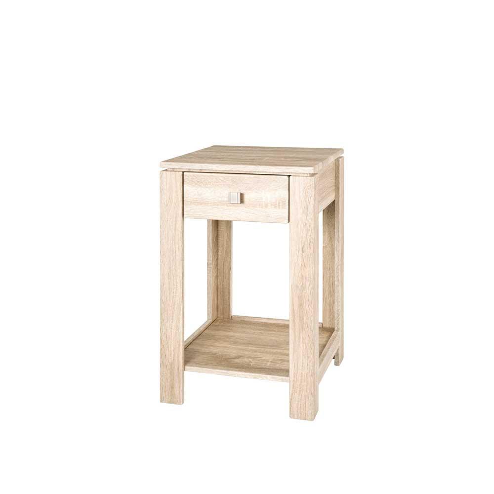 Telefontisch in Eiche Dekor mit Schublade | Flur & Diele > Telefontische | Mdf | Tollhaus