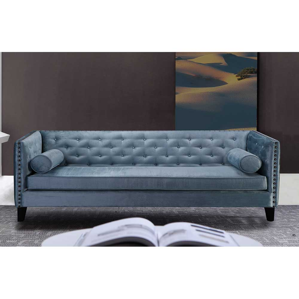 Designer Sofa in Blau Retro Design