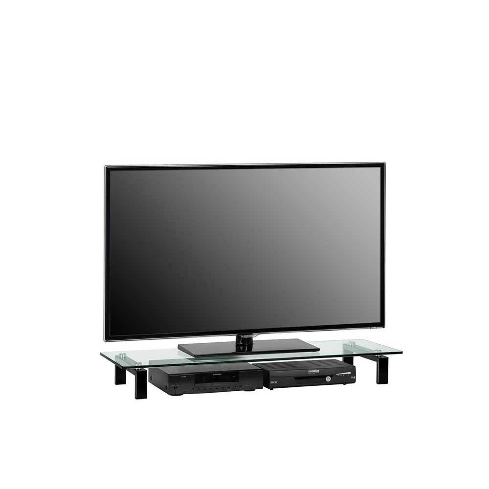 TV Aufsatz in Schwarz Metall