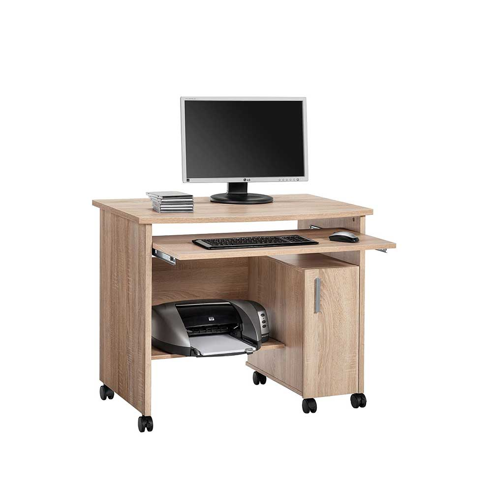 Computertisch mit Rollen Druckerfach | Büro > Bürotische > Computertische | Müllermöbel