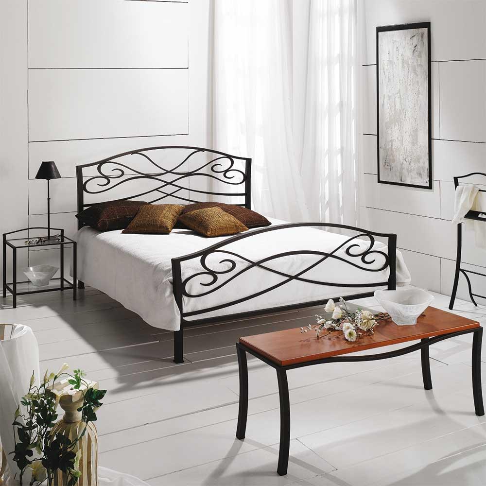 Metallbett in Braun Landhaus | Schlafzimmer > Betten > Metallbetten | Braun | Metall | Violata Furniture