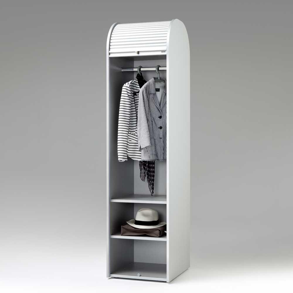 Rolladen-Garderobenschrank in Weiß 50 cm breit | Flur & Diele > Garderoben > Garderobenschränke | Weiß | Kunststoff - Spanplatte | Spirinha