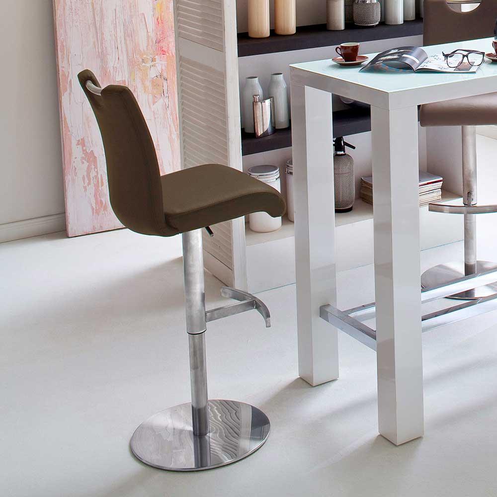 Küchenhocker in Braun Edelstahl | Küche und Esszimmer > Stühle und Hocker > Küchenhocker | TopDesign