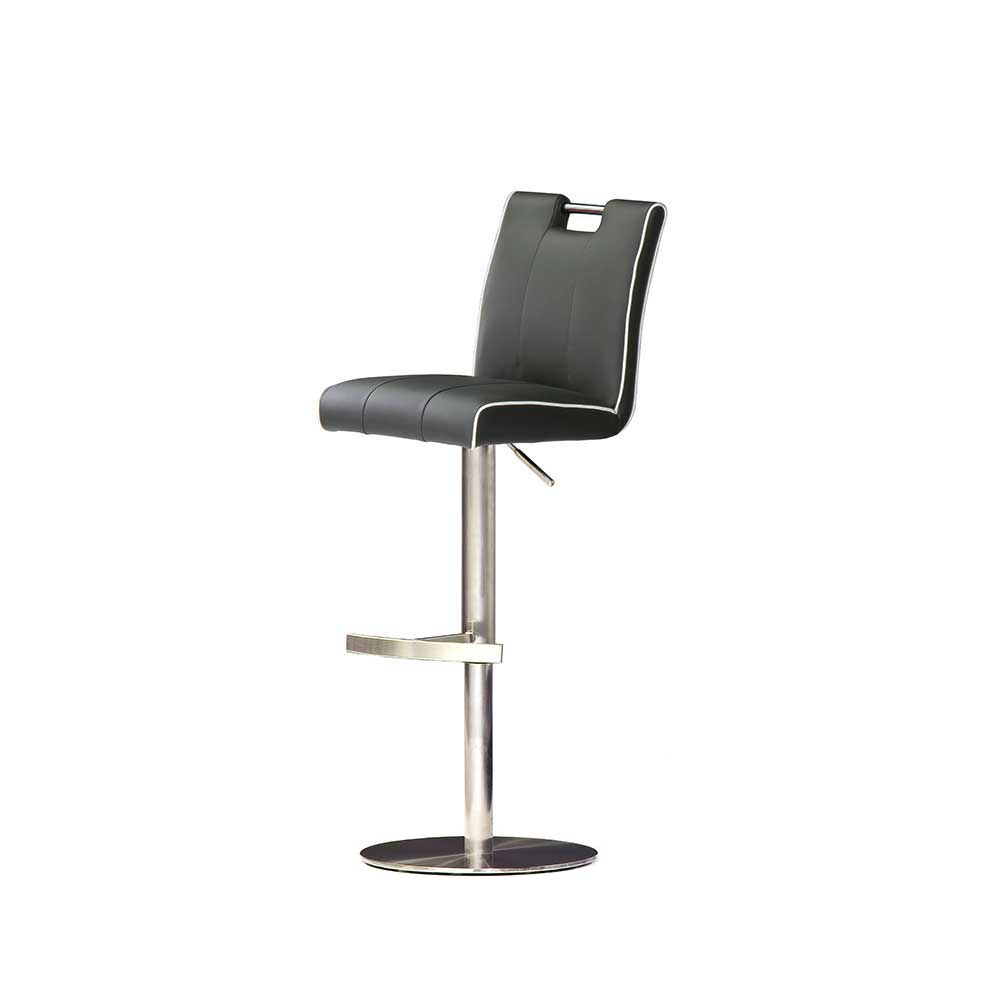 Küchenhocker in Grau höhenverstellbar   Küche und Esszimmer > Stühle und Hocker > Küchenhocker   Grau   Textil   TopDesign