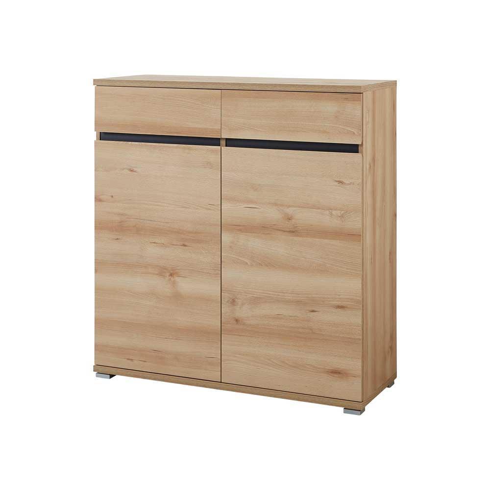 Flur Kommode in Buche Dekor Grifflos | Flur & Diele > Regale für Flur und Diele > Standregale für Flur und Diele | Holz | Holzwerkstoff | Möbel Exclusive