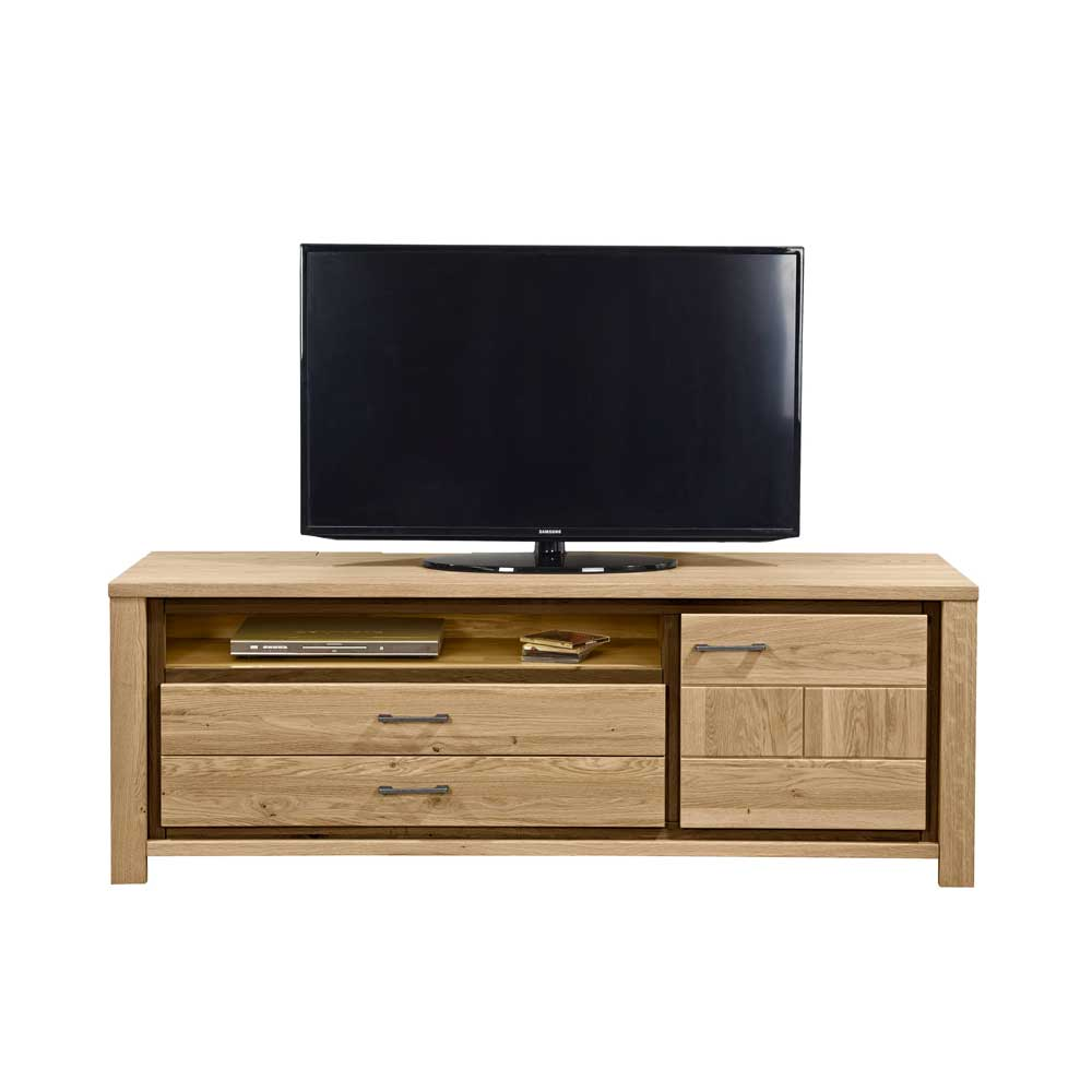 farbe eichefarben tv schrank material eiche massivholz lowboard. Black Bedroom Furniture Sets. Home Design Ideas