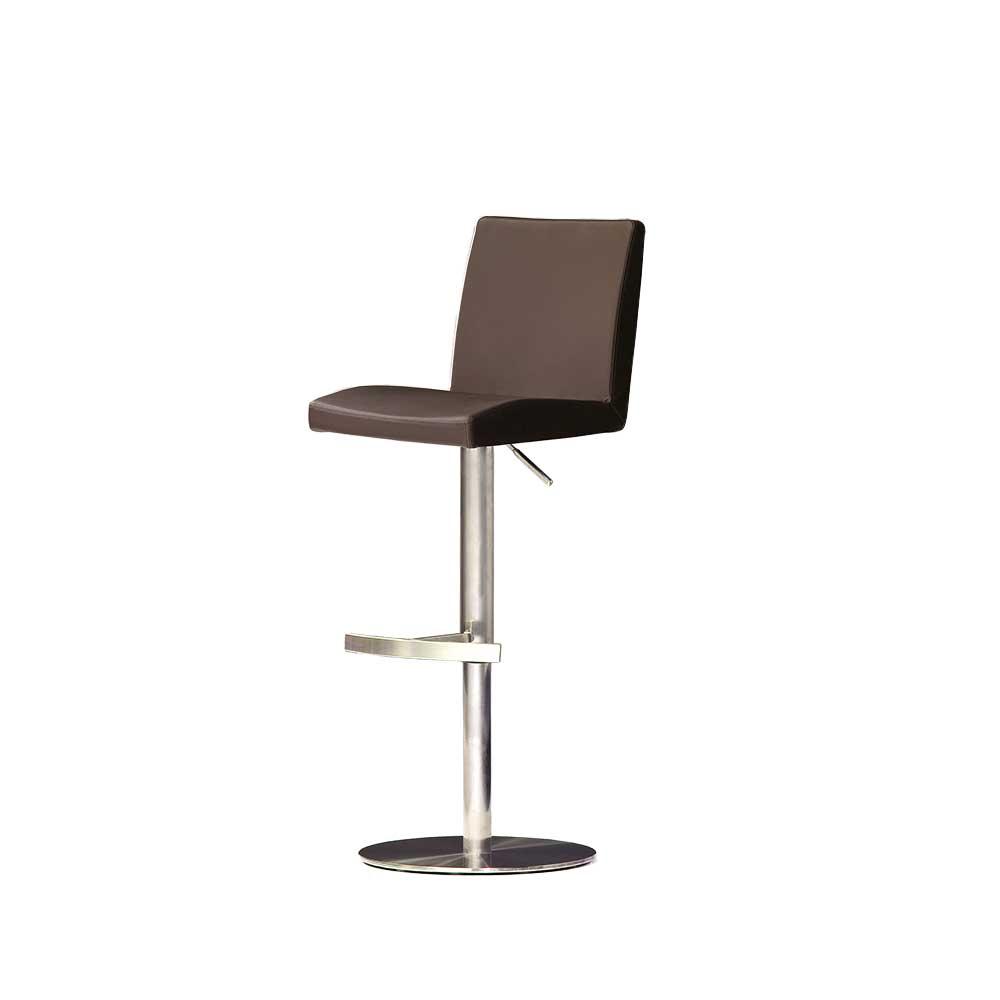barhocker in braun edelstahl. Black Bedroom Furniture Sets. Home Design Ideas